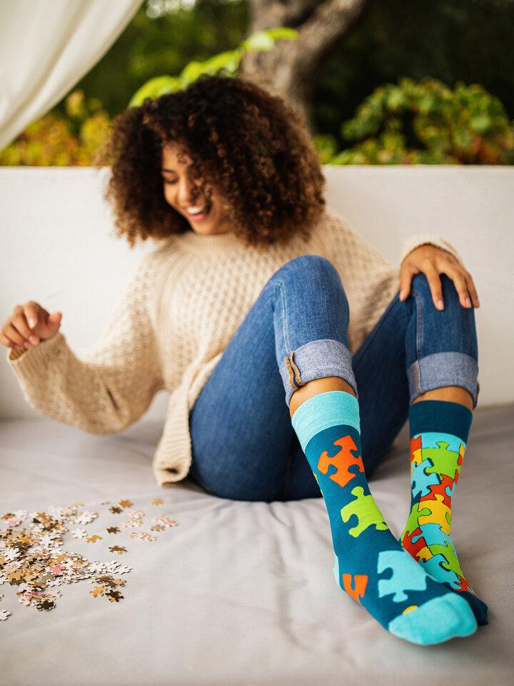 Pre dokonalý a originálny outfit Regular Socks Puzzle