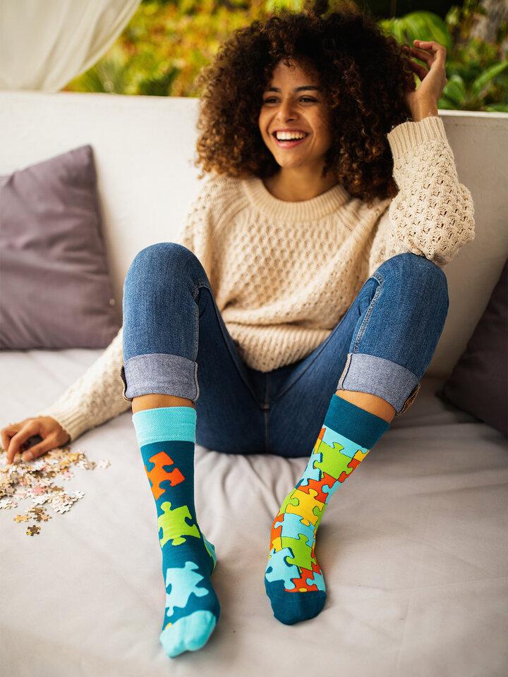 Lifestyle photo Regular Socks Puzzle