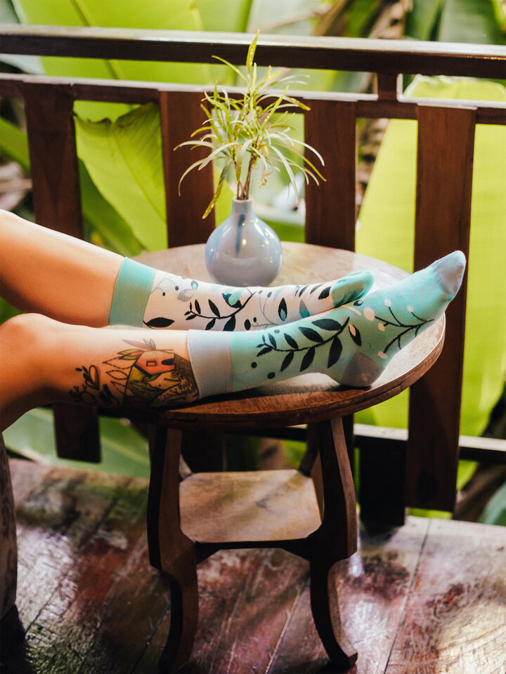 Tip na dárek Veselé ponožky Rostlinky