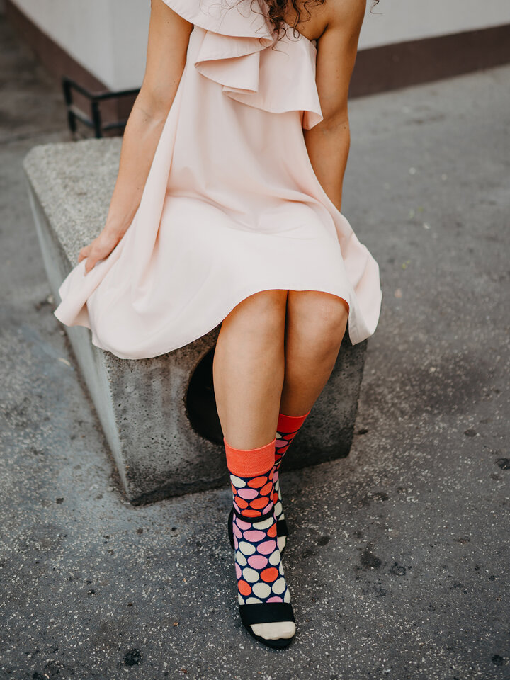 Potešte sa týmto kúskom Dedoles Veselé ponožky Ružový úľ