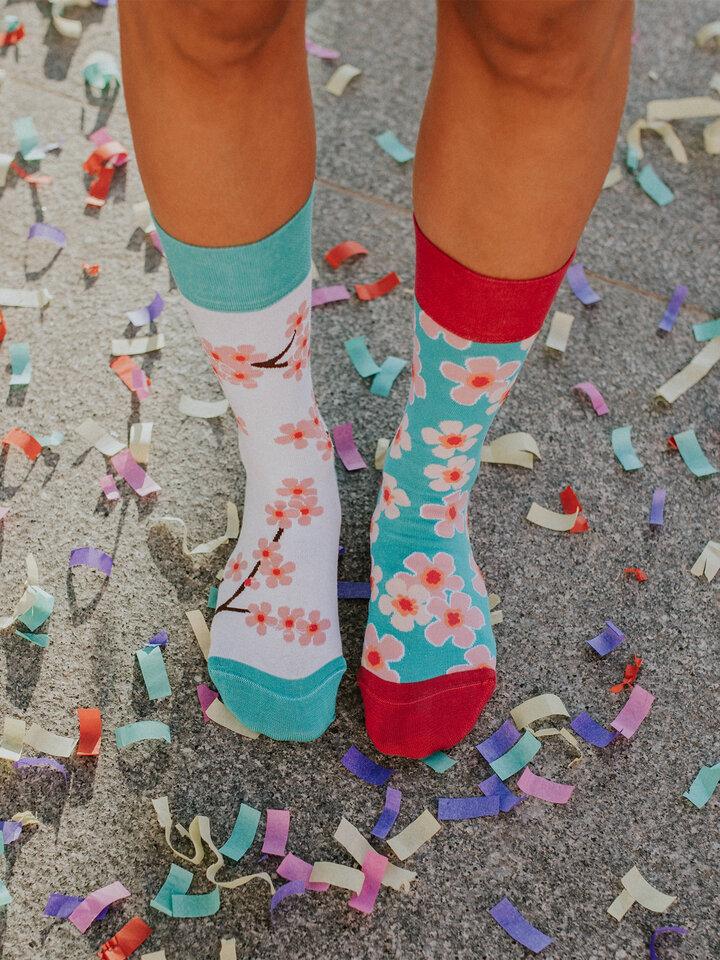Foto Lustige Socken Sakura