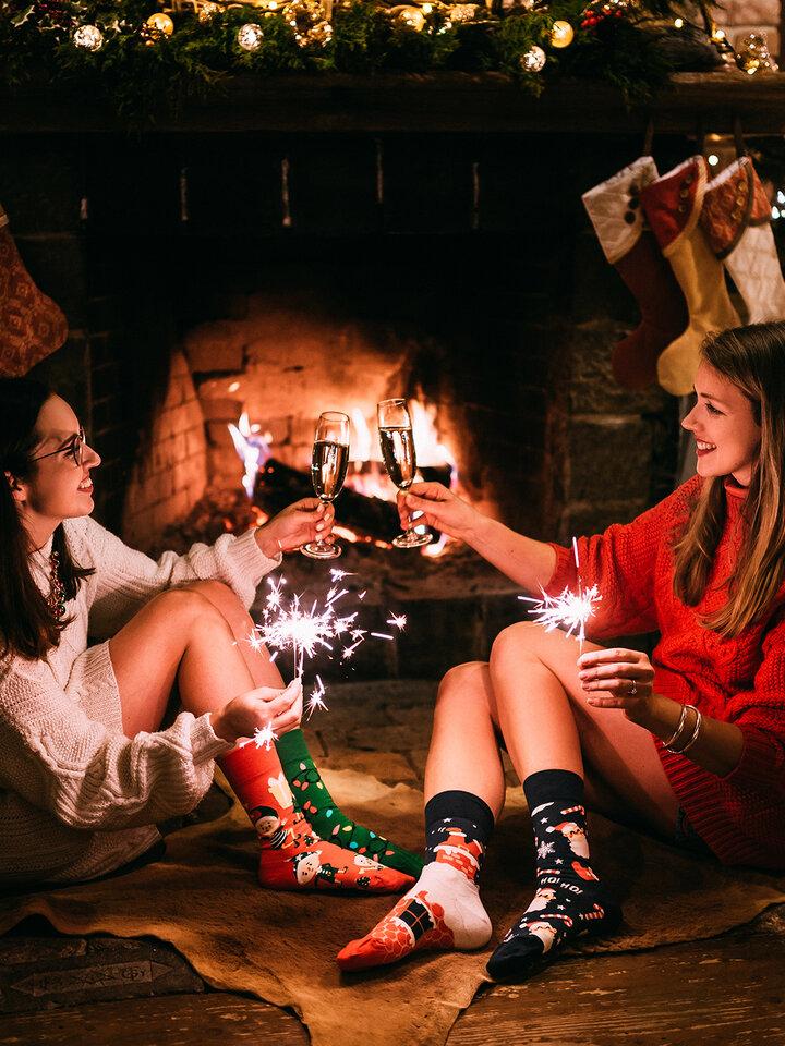 Foto Lustige Socken Santa
