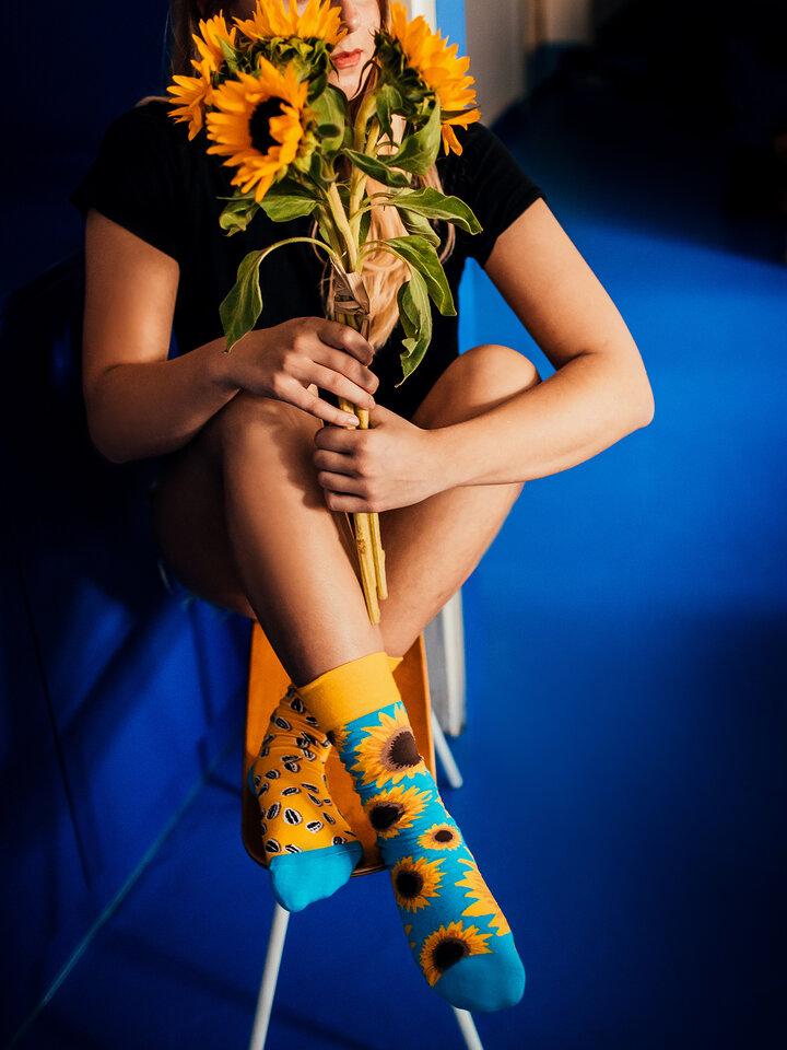 Pre dokonalý a originálny outfit Vrolijke sokken Zonnebloem
