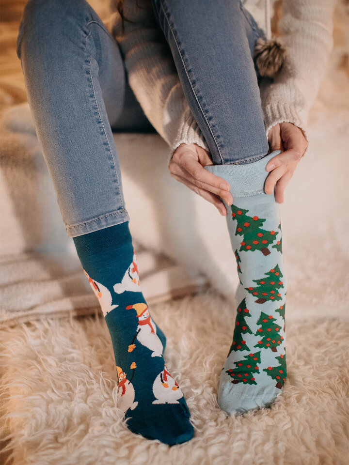 Obrázok produktu Vrolijke sokken Sneeuwpop