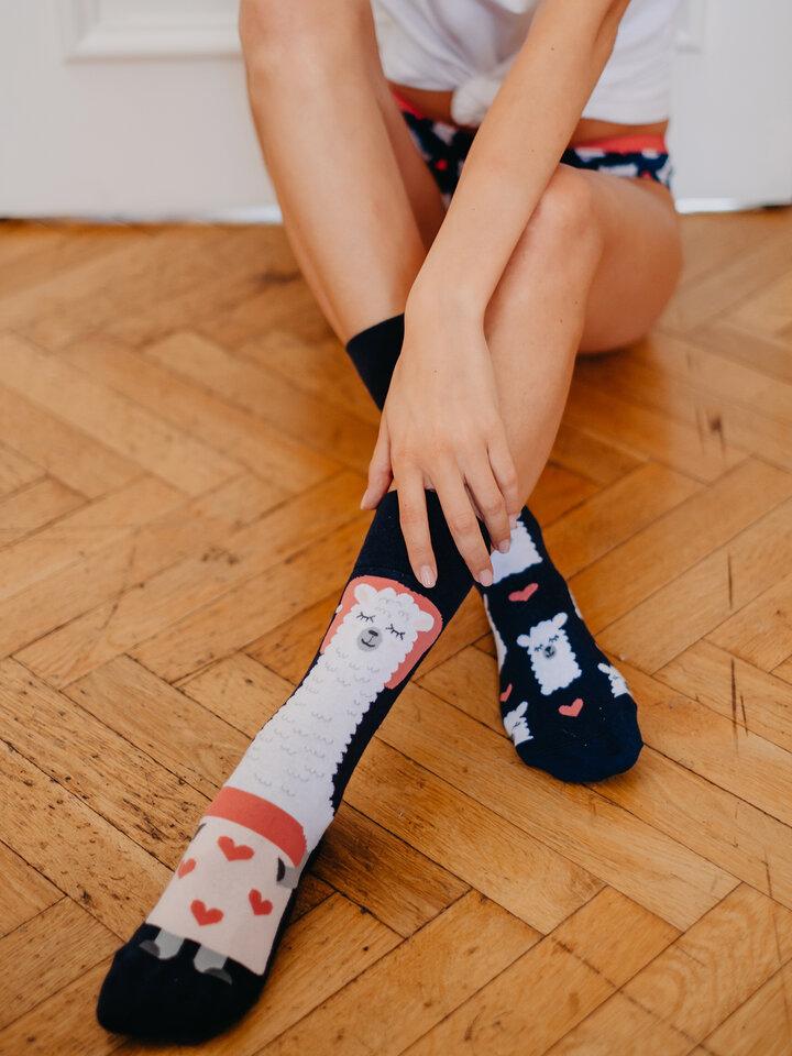 Pre dokonalý a originálny outfit Весели чорапи Спяща лама