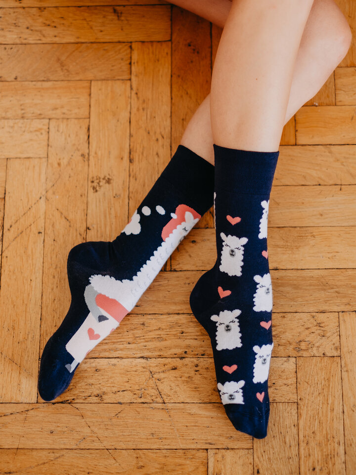 Potešte sa týmto kúskom Dedoles Regular Socks Good Night Llama