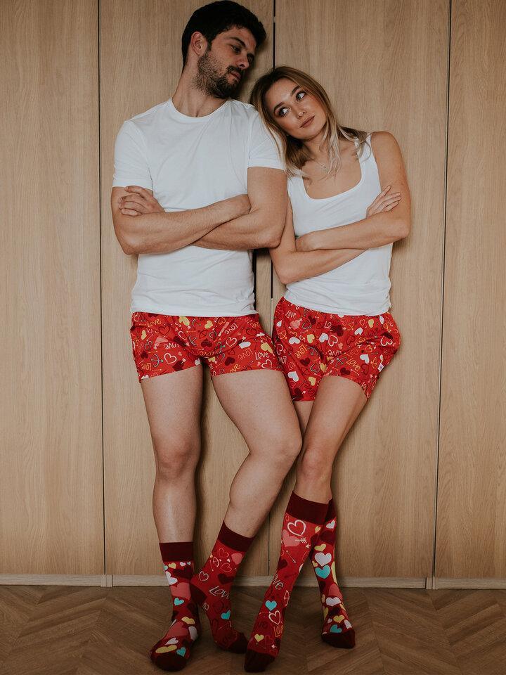 Obrázok produktu Vrolijke sokken Harten