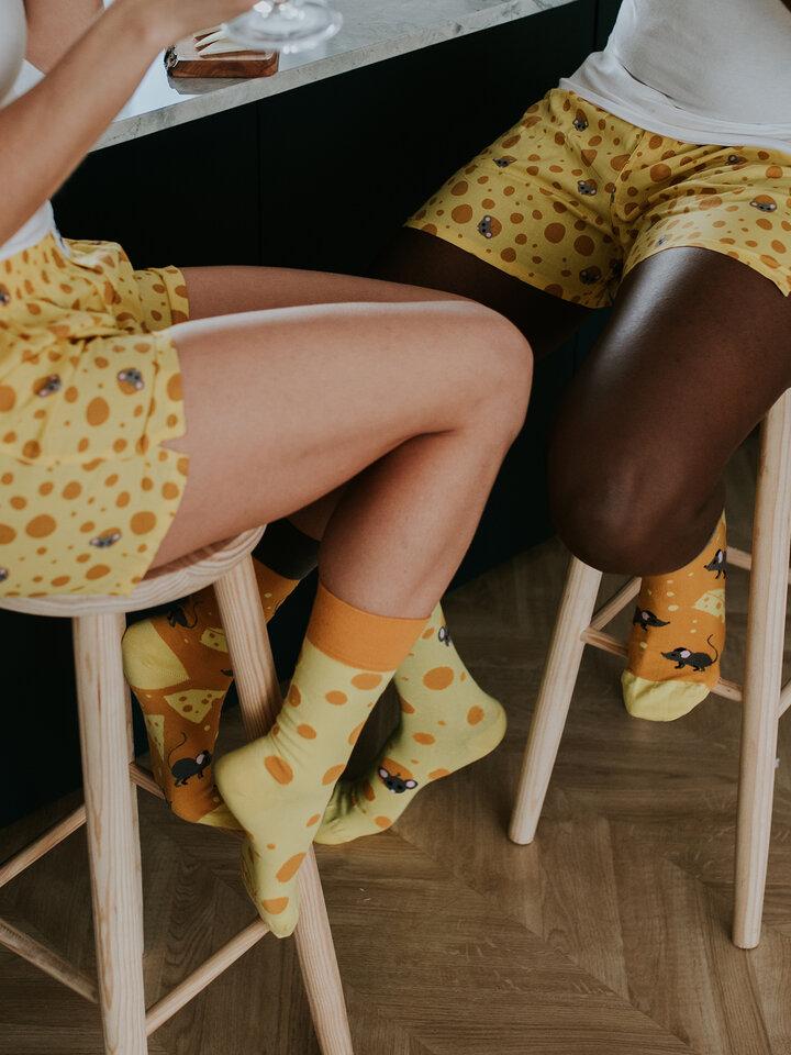 pro dokonalý a originální outfit Veselé ponožky Sýr