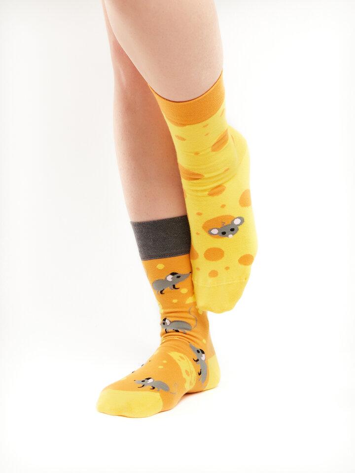 Pre dokonalý a originálny outfit Regular Socks Cheese