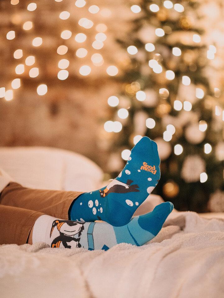 Bereiten Sie sich Freude mit diesem Dedoles-Stück Lustige Socken Pinguine