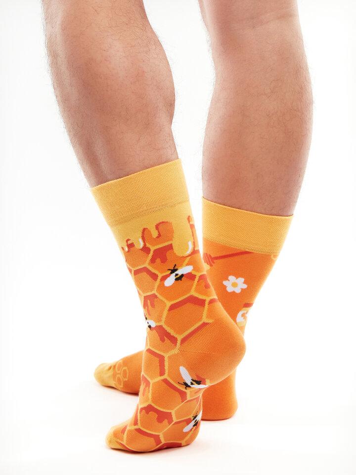 Rabatt Lustige Socken Honigwabe