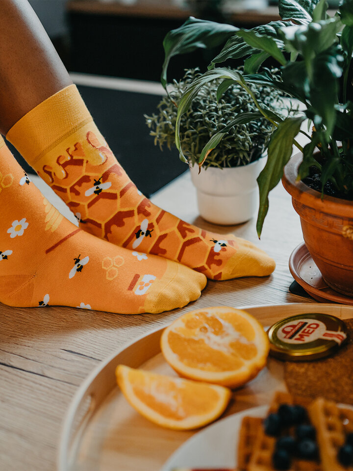 Gift idea Regular Socks Honeycomb