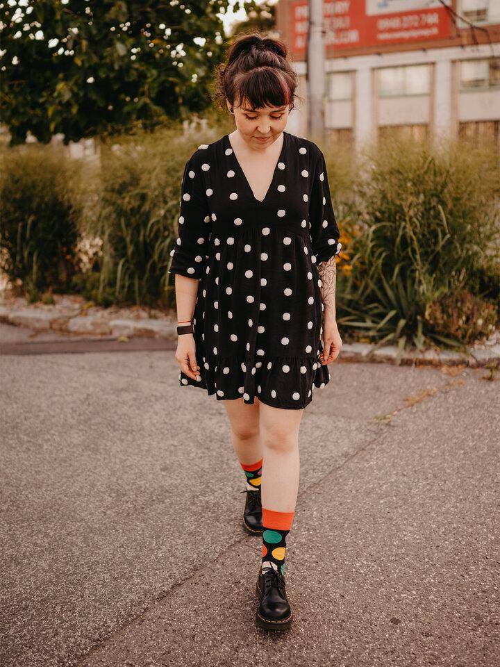 Foto Lustige Socken Große Punkte