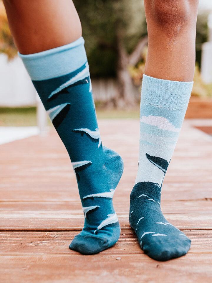 Lifestyle foto Vrolijke sokken Walvis