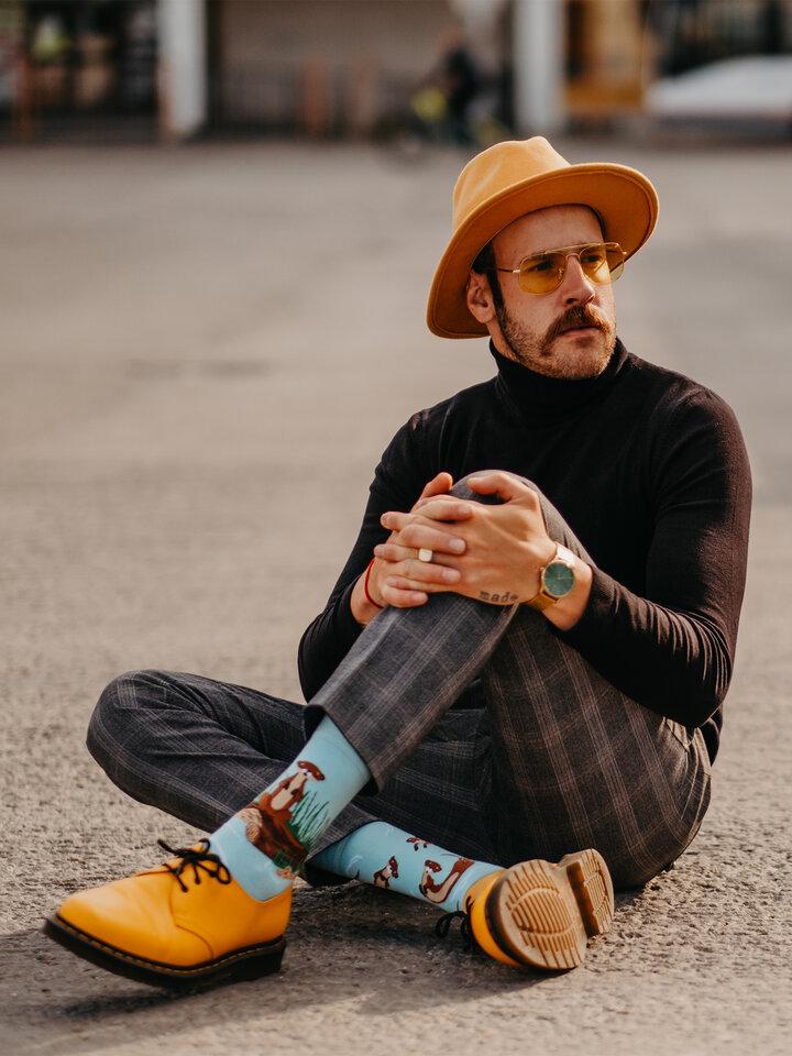 Lifestyle foto Chaussettes rigolotes Loutres