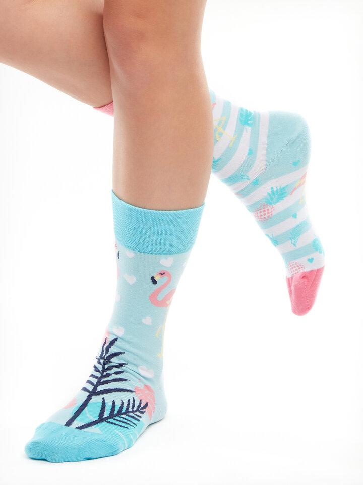 Gift idea Regular Socks Love Flamingos