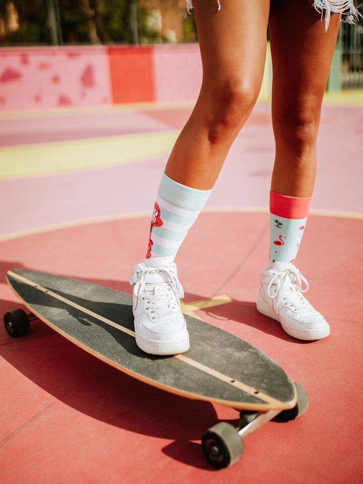 Výprodej Veselé ponožky Zamotaný plameňák