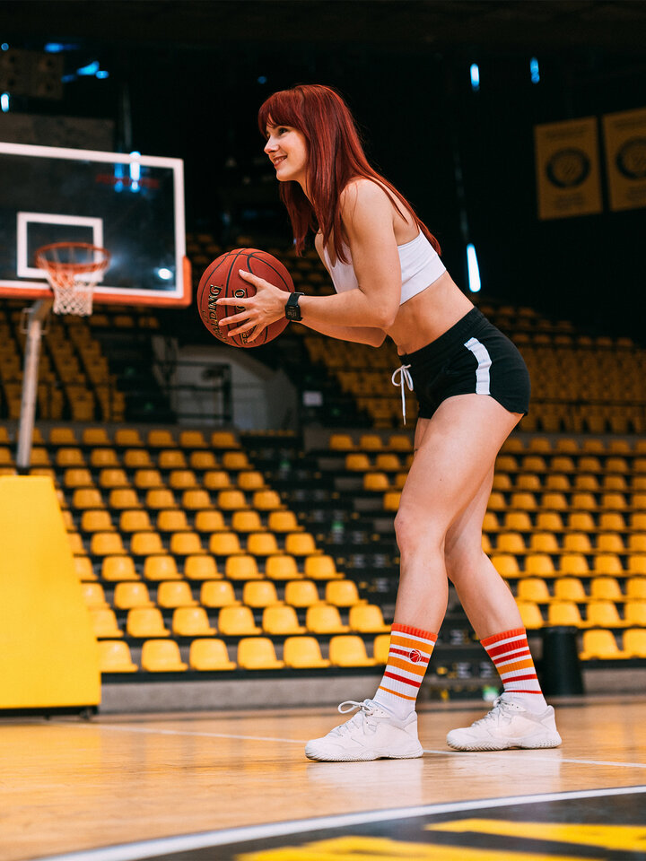 Pre dokonalý a originálny outfit Chaussettes de sport rigolotesBasketball