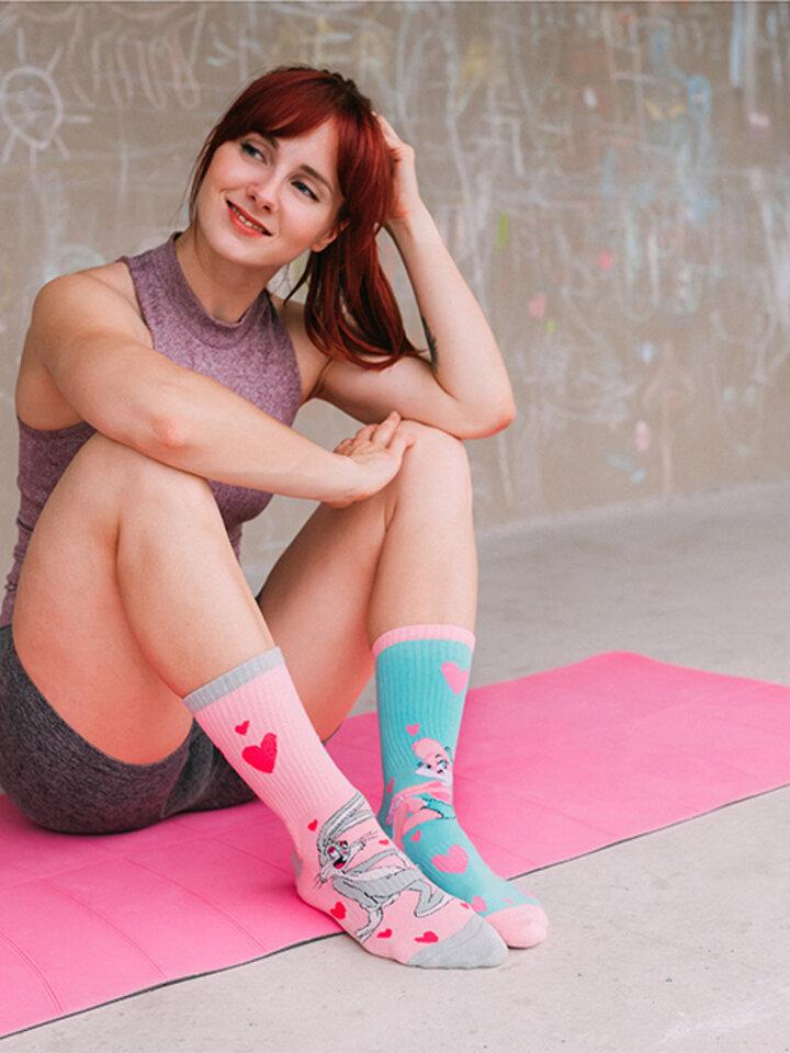 Gift idea Good Mood Sport Socks Looney Tunes™ - Lola & Bugs Bunny Love
