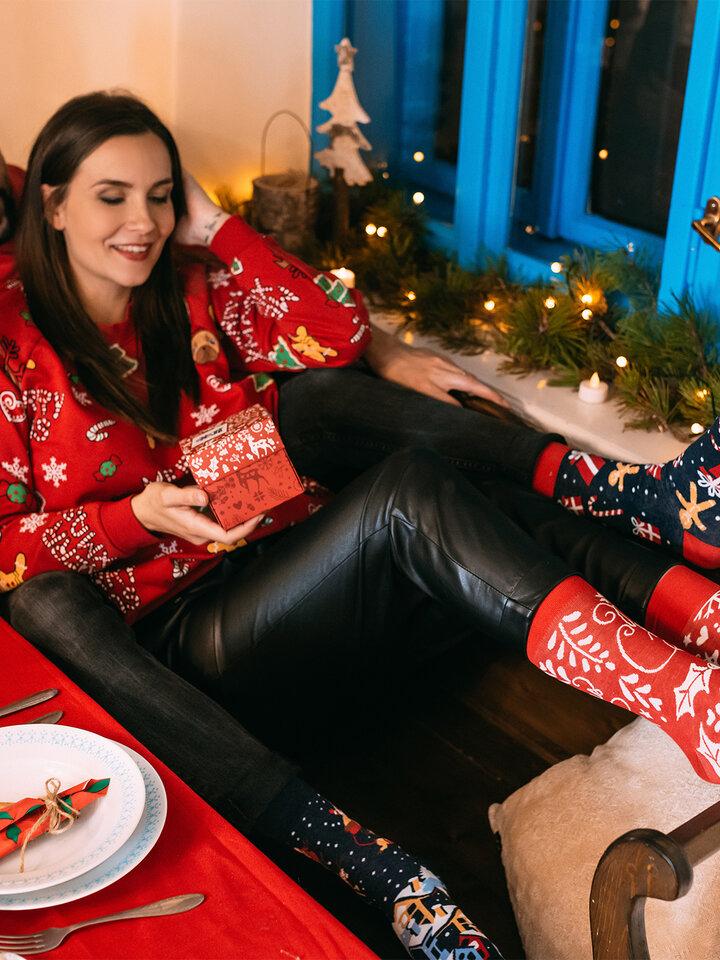 Výpredaj Caja regalo Santa y Rudolf