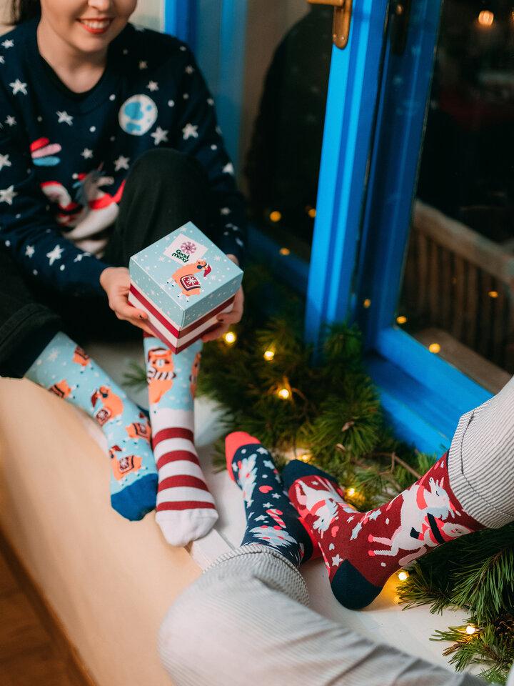 Potešte sa týmto kúskom Dedoles Pudełko z prezentem Szalone Boże Narodzenie