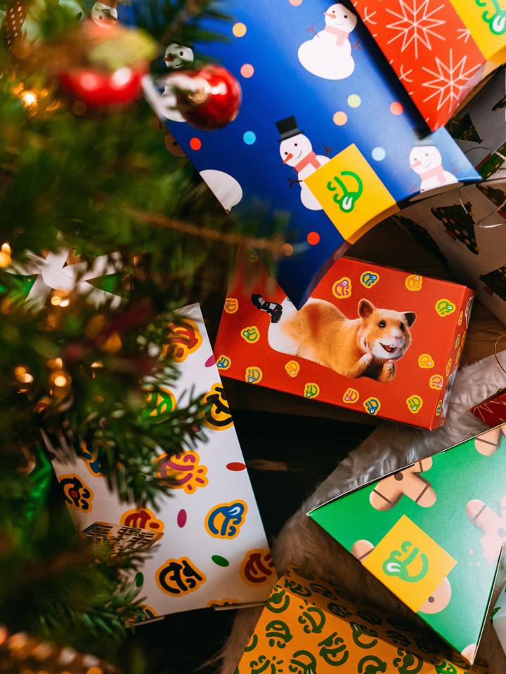 Obrázok produktu Овална кутия за подарък Бой със снежни топки