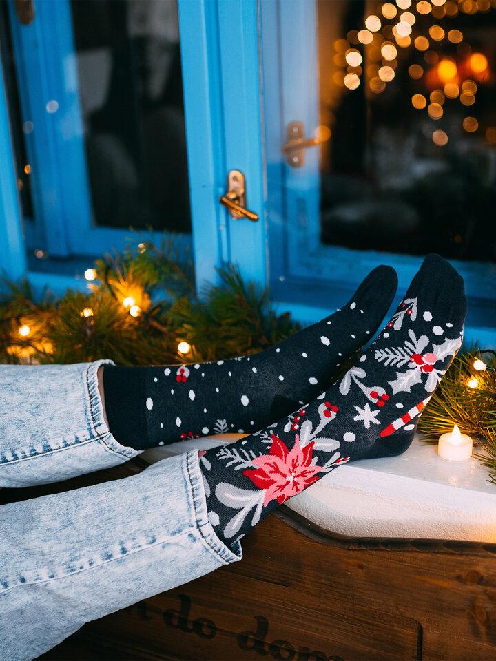 Výprodej Veselé ponožky Vánoční ornament