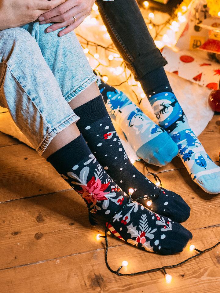 Sleva Veselé ponožky Vánoční ornament