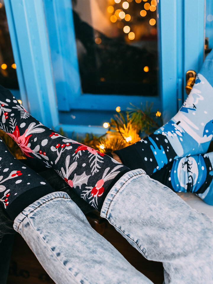 pro dokonalý a originální outfit Veselé ponožky Vánoční ornament