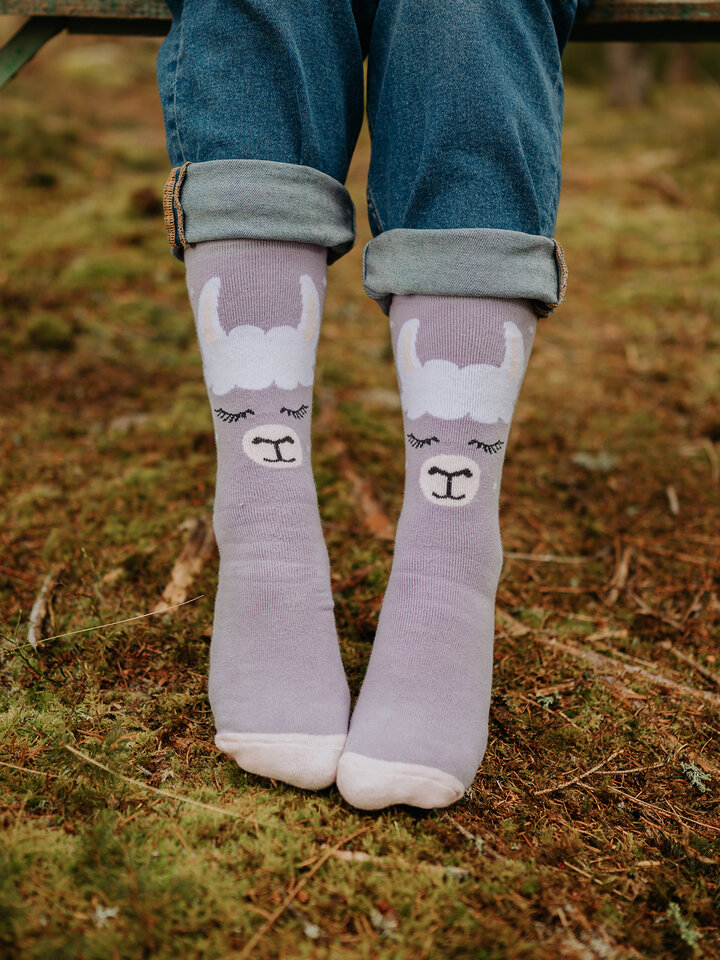Pre dokonalý a originálny outfit Wesołe i ciepłe skarpetki lama