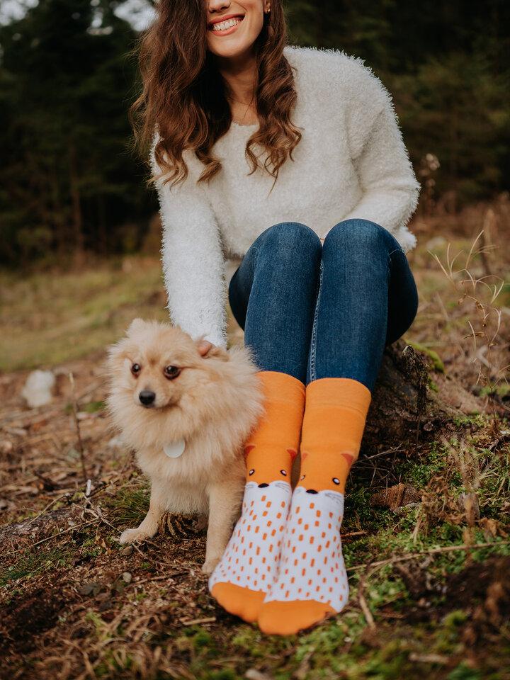 Pre dokonalý a originálny outfit Warm Socks Fluffy Fox