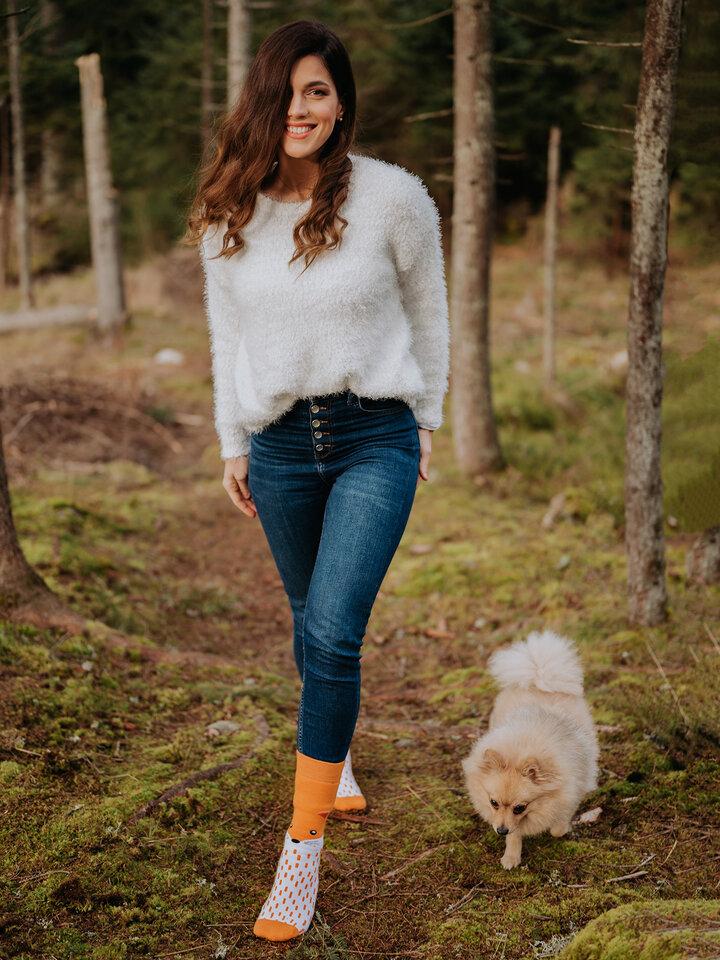 Lifestyle photo Warm Socks Fluffy Fox