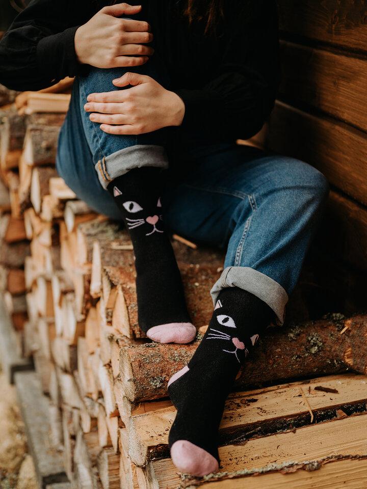 Tip na darček Vrolijke warme sokken Kattenblik