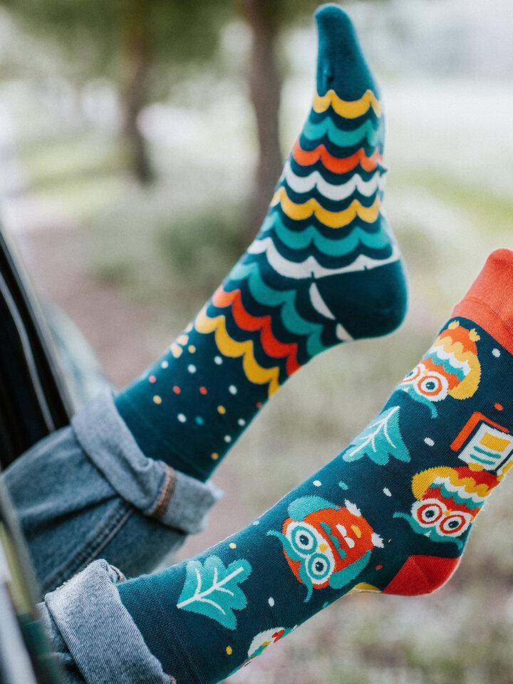 Výnimočný darček od Dedoles Vrolijke sokken Wijze uil