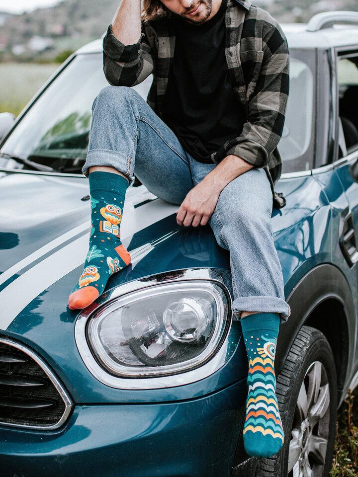 Tip na darček Vrolijke sokken Wijze uil