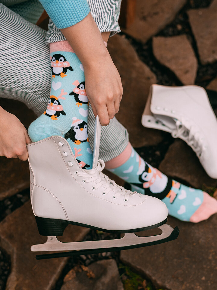 Original gift Regular Socks Skating Penguin