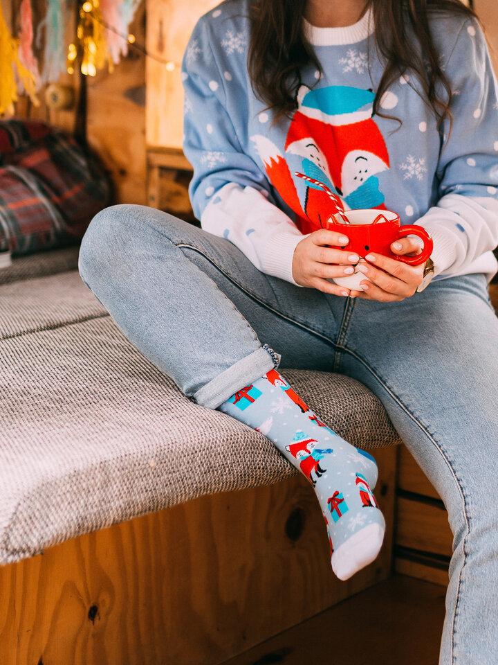 Výnimočný darček od Dedoles Класически Весели чорапи Зимна лисица