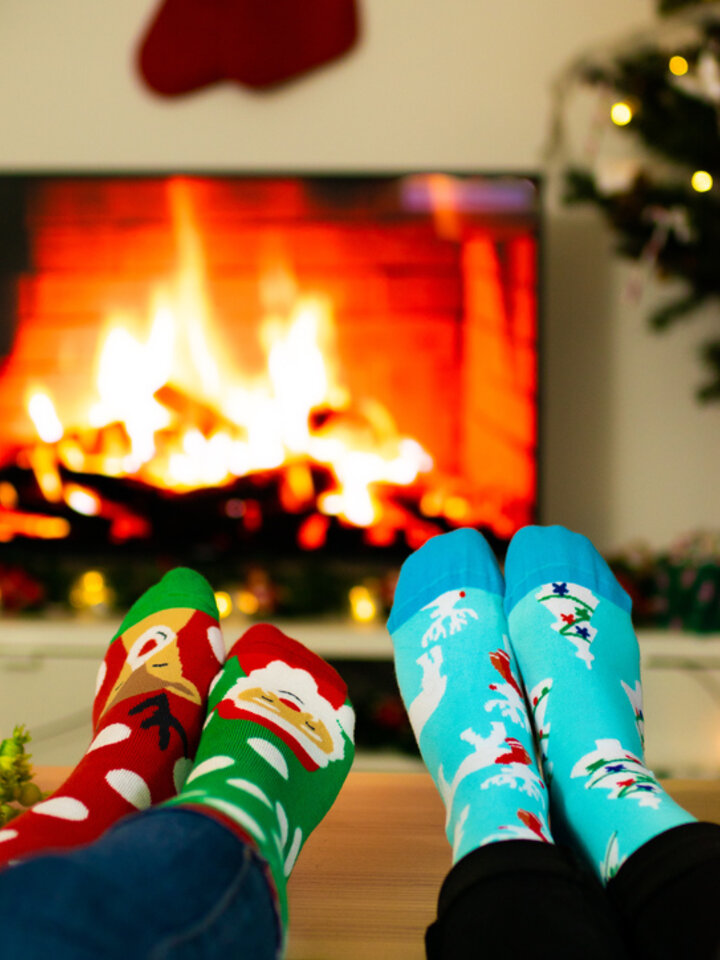 Výnimočný darček od Dedoles Vesele tople čarape Santa i Rudolf