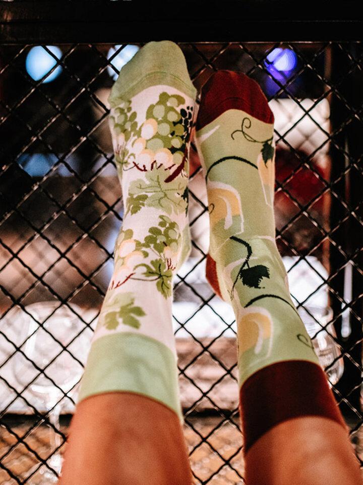Výpredaj Весели чорапи Бяло вино