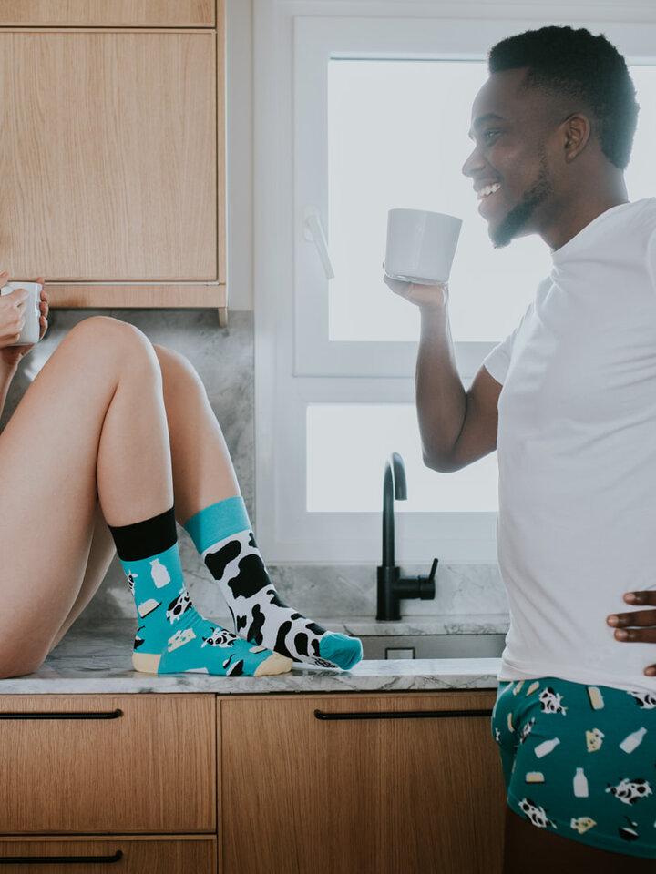 Pre dokonalý a originálny outfit Regular Socks Cow