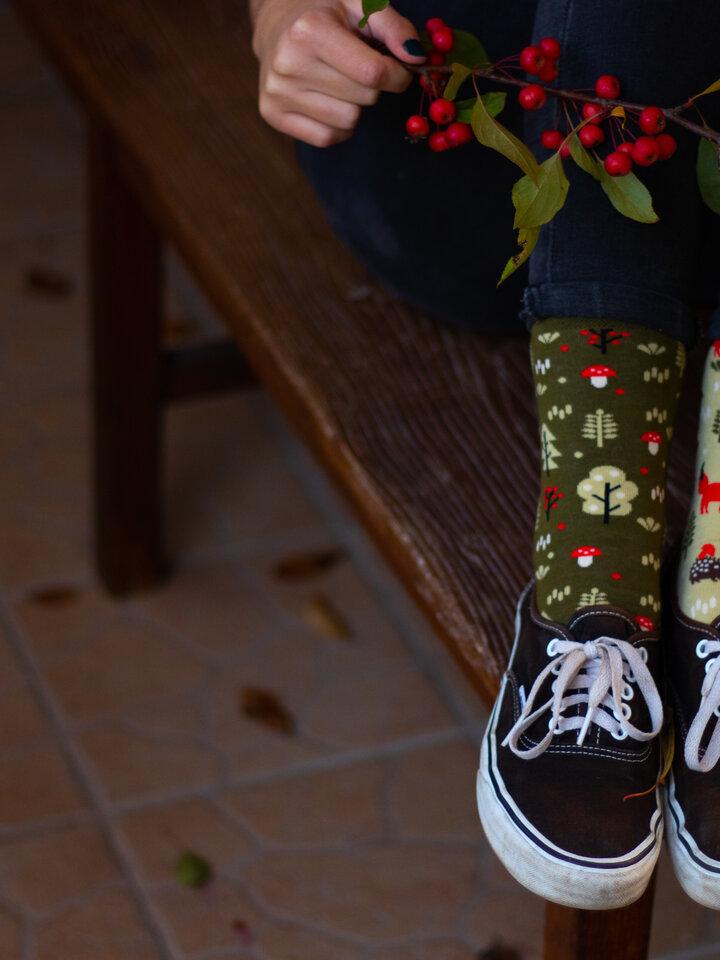 Potešte sa týmto kúskom Dedoles Regular Socks Forest Fox