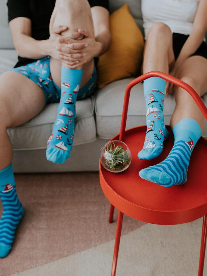 Lifestyle foto Veselé ponožky Plachtění