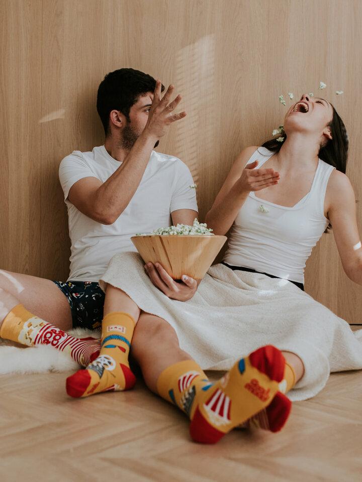 Tip na darček Vrolijke sokken Popcorn