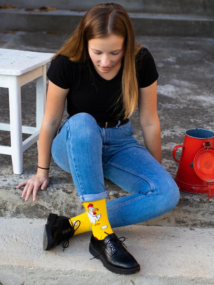 Tip na darček Vrolijke sokken Kip of ei