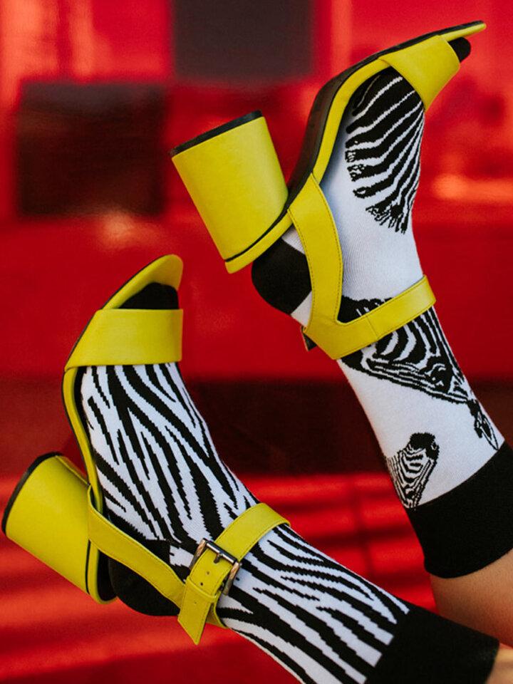 Obrázok produktu Veselé ponožky Zebra