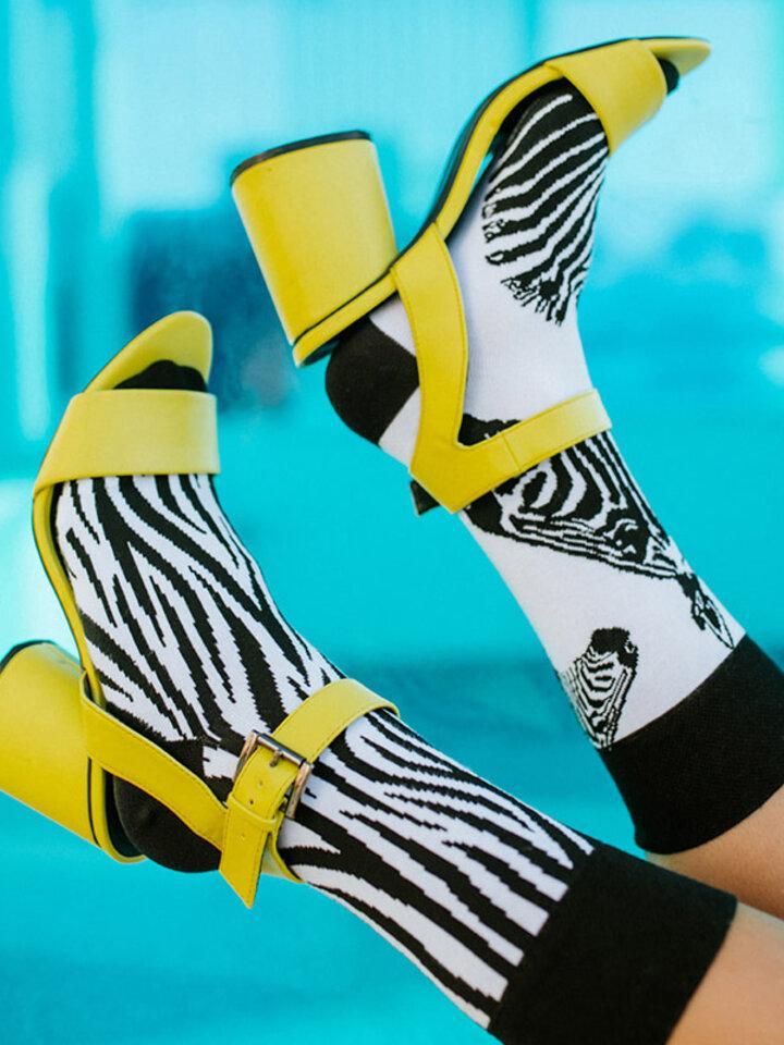 Hľadáte originálny a nezvyčajný darček? Obdarovaného zaručene prekvapí Veselé ponožky Zebra