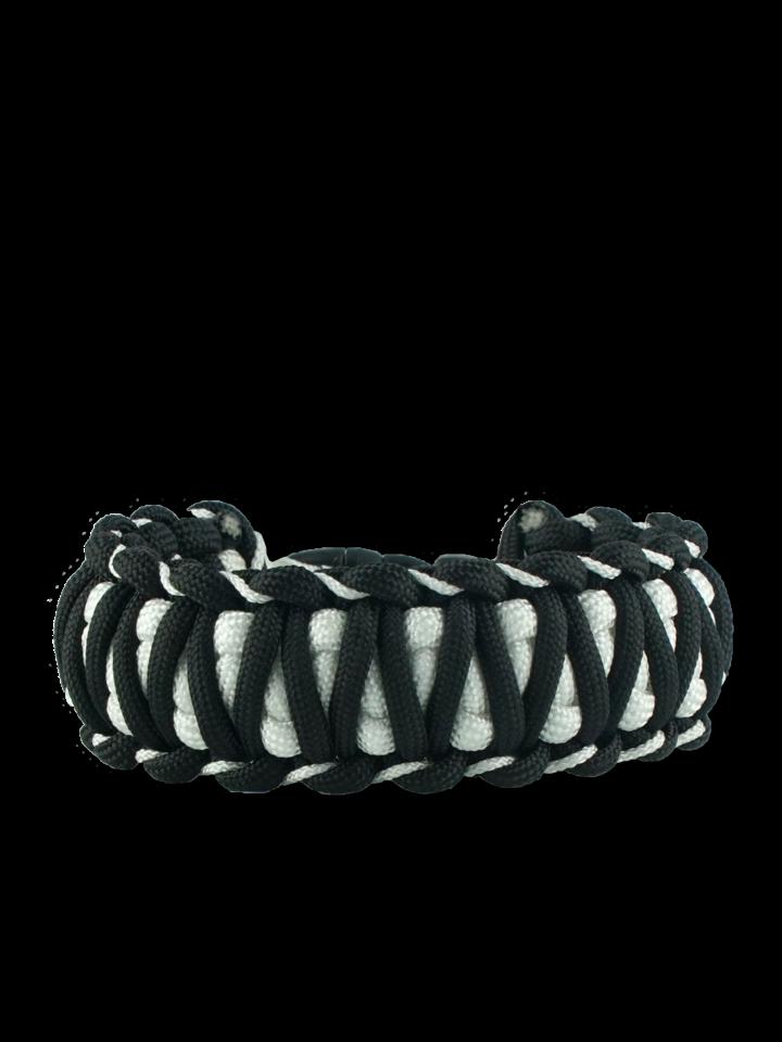 Cadou original de la Dedoles Brățara paracord negru-alb Zebra