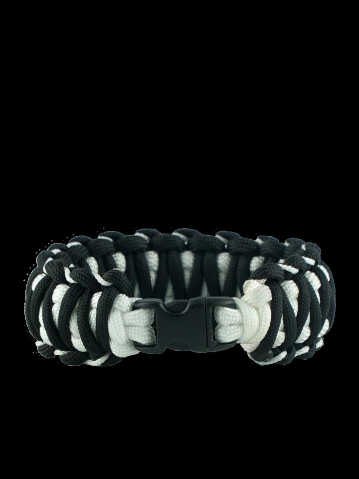 Geschenktipp Schwarz-weißes Paracord Armband Zebra