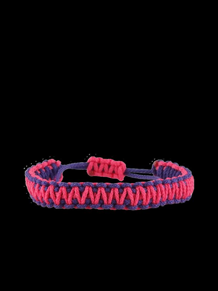Obrázok produktu Fialovo-ružový microcord náramok King Cobra