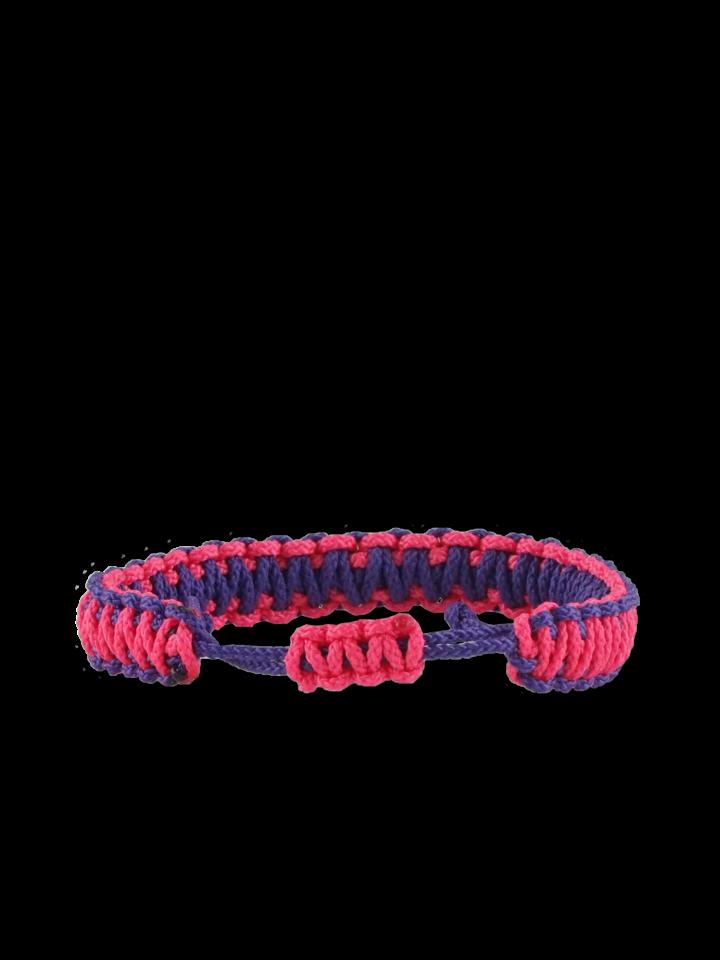 Eredeti és szokatlan ajándékot keres? a megajándékozottat garantáltan meglepi Lila-rózsaszín Microcord karkötő King Cobra